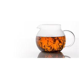 ハンドメイドガラスサーバー4カップ [cores/コレス] ティーポットとしてお使いいただければ、茶葉が十分にジャンピングします。