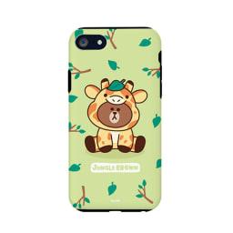 iPhone 8/7用 スマホケース ジャングルブラウン|LINE FRIENDS(ラインフレンズ) (エ)キリン