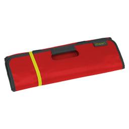 meori(メオリ)/ショッピングトートバッグ Lサイズ (イ)ハイビスカスレッド…使わない時は丸めて折りたためます。