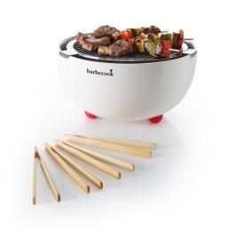 barbecook(バーべクック)/ジョヤ 卓上BBQグリル (ア)ホワイト (※竹製トング4本付き)