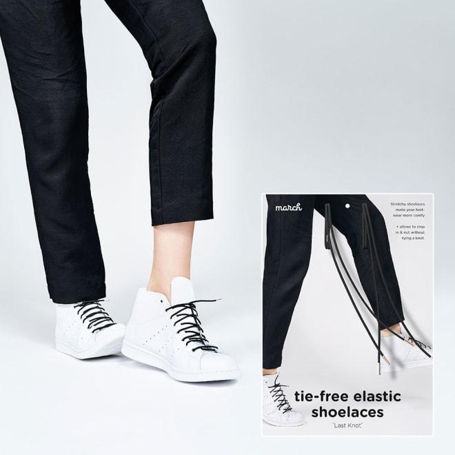 march シューレース 100cm (ア)ブラック
