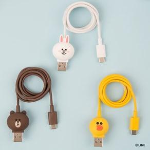 充電&データ Type-Cケーブル|LINE FRIENDS(ラインフレンズ) 写真