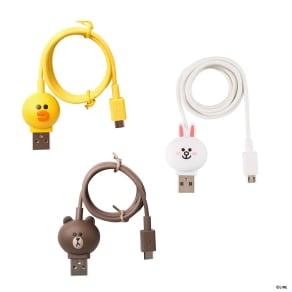 充電&データ Micro USBケーブル|LINE FRIENDS(ラインフレンズ) 写真
