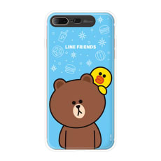 iPhone 8 Plus/7 Plus用 LINE FRIENDS(ラインフレンズ)LIGHT UPスマホケース