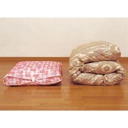 羽毛布団収納袋 シングルFC柄 かさばってた羽毛布団をコンパクト&クリーン収納!