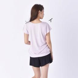 BENETTON(ベネトン)/接触冷感ラッシュTシャツ ショートパンツ付きセットアップ (イ)Back