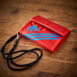 adidas(アディダス)/ウォレットコード付 かぶせ財布 (ウ)レッド