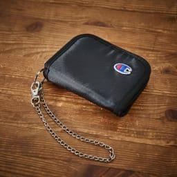 チャンピオン/Champion アース チェーン付 二つ折り財布 (ア)ブラック
