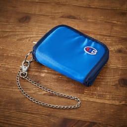 チャンピオン/Champion アース チェーン付 二つ折り財布 (エ)ブルー
