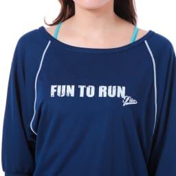 FILA(フィラ)/水陸両用ブラキャミ・Tシャツ・ショートパンツ・レギンス4点セット (ア)ネイビー