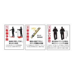 もっと安心2本杖