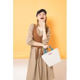 ワチャマコリ グラフチェックトートバッグ Sサイズ (イ)使用イメージ