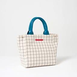 ワチャマコリ グラフチェックトートバッグ Sサイズ (イ)ブルー