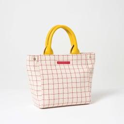 ワチャマコリ グラフチェックトートバッグ Sサイズ (ウ)イエロー