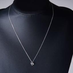 グレーシャスダイヤ K10 ゴールドネックレスハート (イ)ホワイトゴールド