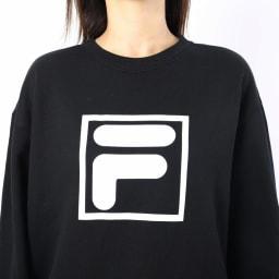 FILA(フィラ)/ビックロゴスウェットトレーナー (ウ)ブラック