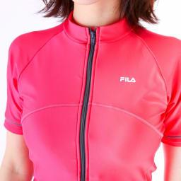 FILA半袖フルジップセパレート水着   (エ)ピンク