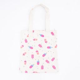 O'NEILL(オニール)/コットン素材ファスナー付きトートバッグ (ウ)ホワイトピンク