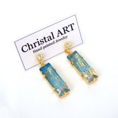 Christal ART スクエアクリスタル ピアス