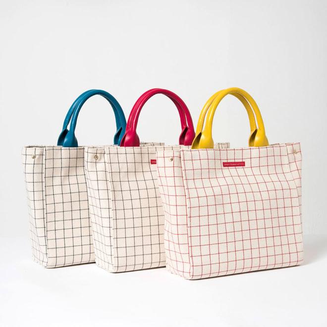 ワチャマコリ グラフチェックトートバッグ Mサイズ