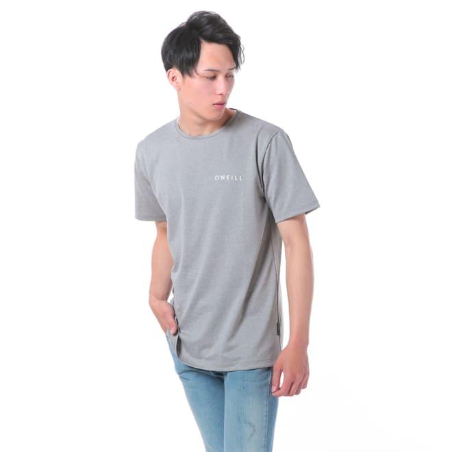 O'NEILL(オニール)/杢調半袖メンズラッシュTシャツ (イ)グレー