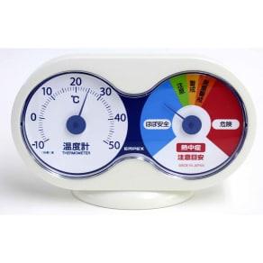 温度計 温度と熱中症注意目安 写真