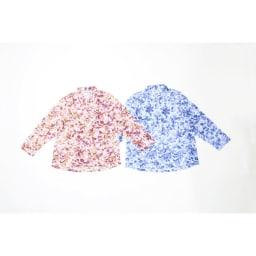 カインドケア/シャツ襟ブラウス 婦人 左から(イ)ピンク、(ア)ブルー