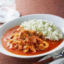 ふもと赤鶏トマト煮(骨付きもも) (250g×5袋) 【調理例】ごはんと合わせてカレー風にも!