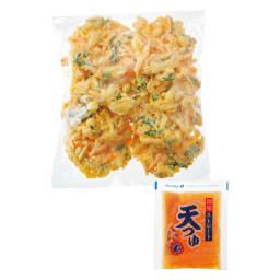 海老とイカのかき揚げ丼の具 (かき揚げ8枚・天つゆ8袋)×2袋