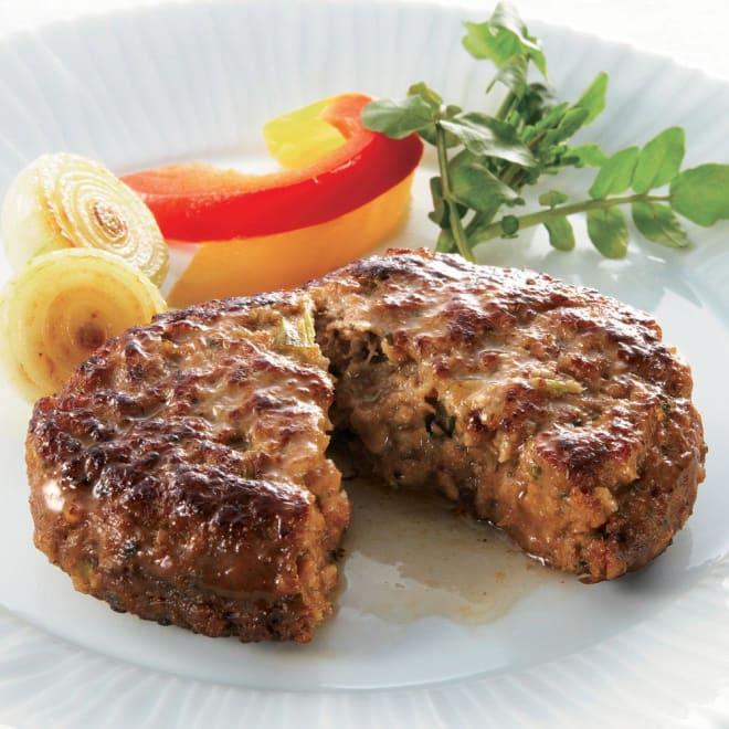 落合務シェフ監修 香味野菜と牛肉のハンバーグ (150g×8個) 野菜の甘みとブラックペッパーの香りでソースなしでも美味しく召し上がれます。