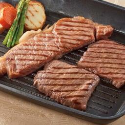 米澤佐藤畜産 米沢牛ステーキ食べ比べ (2種 計3枚) 調理例