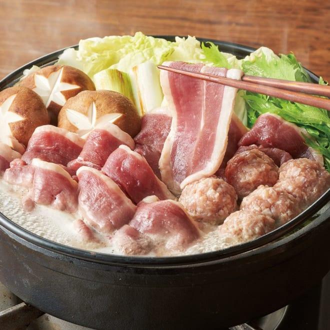青森県産 鴨鍋セット 調理例 青森県産の鴨肉をたっぷり使用 食べたらクセになる旨みとコク!