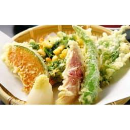 グレープシードオイル (460g×6本) 【天ぷら調理例】グレープシードオイルを使用した天ぷらは油臭さがなくカラッと揚がります。