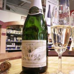 【スパークリングワイン】カヴァ・ヴィジエガ・ブリュット 【お試し用】 ※撮影時よりボトルのラベルデザインが変更されています。
