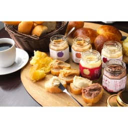 ビストロ・ウールー 秋星りんごバター (100g×6瓶) ※お届けは中央の秋星りんごバターです。