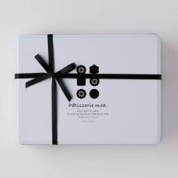 【ディノス限定】 熨斗付「Patisserie moa(パティスリーモア)」 オリジナルクッキー缶 オリジナルのクッキー缶に入れてお届けします