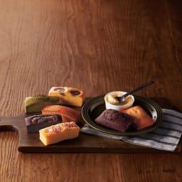 PATISSERIE SANGA(パティスリー サンガ) フィナンシェ&パンドジェンヌ詰合せ ※丸いお皿に入ったベイクドチーズケーキは本商品に含まれません。
