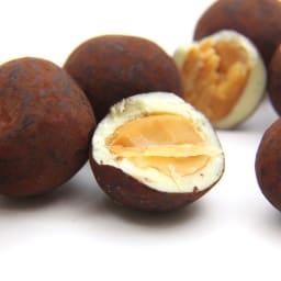 bubo BARCELONA/ブボバルセロナ チョコフルーツ マカダム (100g)【通常お届け】 大粒のマカデミアナッツを丁寧にキャラメリゼし、バニラが香り立つホワイトチョコレートでコーティングしました。