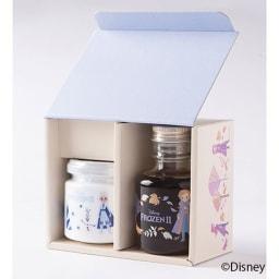 「アナと雪の女王2」 カナダ産ブルーベリーハニー&メープルシロップ (計2本) 化粧箱に入れてお届けします。