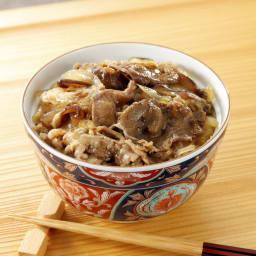 神田明神下「喜川」黒毛和牛すき焼き丼の具 【盛り付け例】