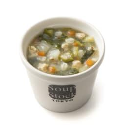 「スープストックトーキョー」和のスープと夏の人気スープセット 【盛り付け例】生姜とオクラのミネストローネ