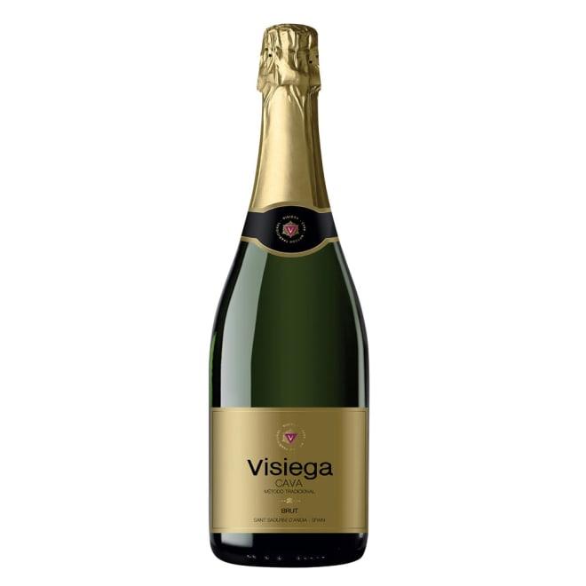 【スパークリングワイン】カヴァ・ヴィジエガ・ブリュット 【お試し用】 爽やかで光り輝くスペイン産のスパークリングワインです。