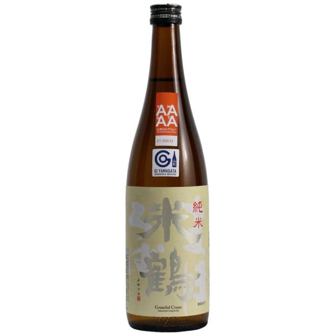 米鶴 純米 まほろば (720ml) 清楚な香りで、きれいでほんのりとコクのある味わい。