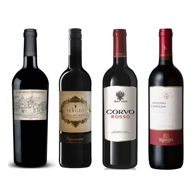 南イタリア赤ワイン4本セット ※ヴィンテージは変更になることがあります ※ラベルデザインが変更になることがあります。