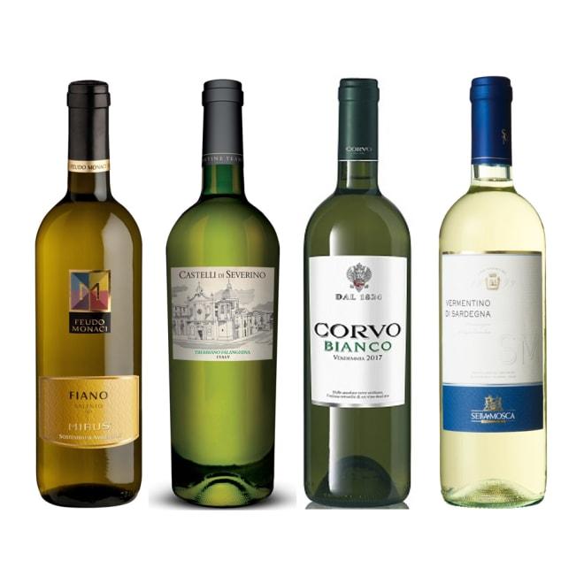 南イタリア白ワイン4本セット ※ヴィンテージは変更になることがあります ※ラベルデザインが変更になることがあります。