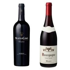 【父の日】エノテカソムリエ厳選 ボルドー&ブルゴーニュ 赤ワイン2本セット