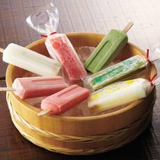 「向野製氷」 氷屋さんのアイスキャンデー (4種計12本)