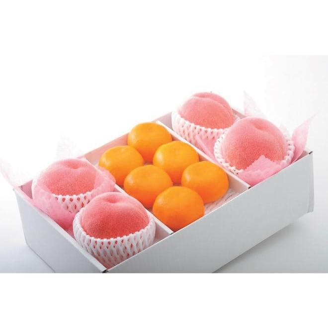 【お中元】桃とハウスみかん詰合せ
