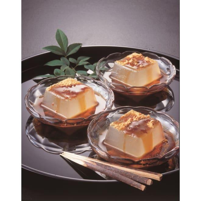 吉野の葛餅 57gx12個 【盛り付け例】プルプル食感と味をお楽しみいただけます。