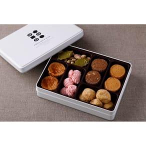 【ディノス限定】 熨斗付「Patisserie moa(パティスリーモア)」 オリジナルクッキー缶 写真